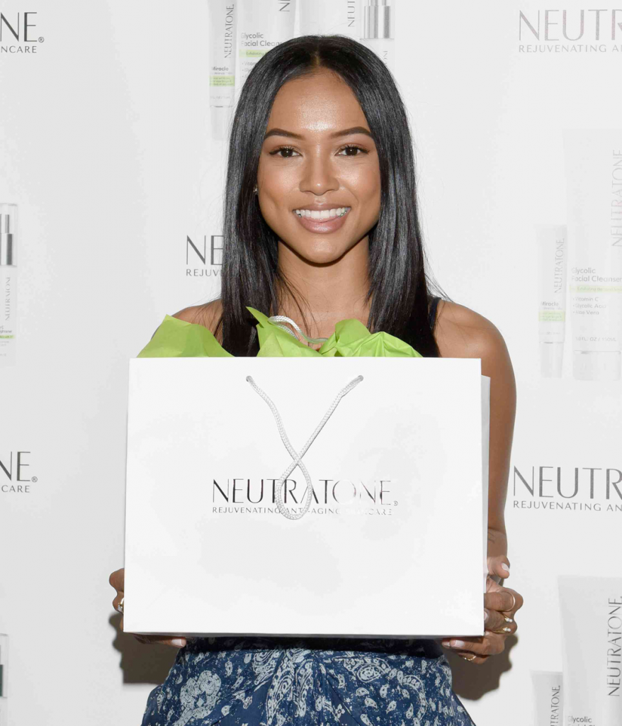 Karrueche Tran looking stunning then ever. Neutratone is great for all ages. NEW Glycolic Facial Cleanser good for Oily and Aging Skin and Vitamin C Skin Brightener to help protect and even out out skin.